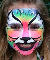 cat face painting at paintingvalley