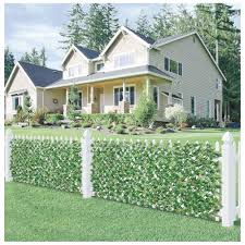 Garden Decors Depot Ecoopts Artificial Photinia Leaf Faux Ivy Expandable Stretchable Privacy Fence Screen Single Side Leaves And Vine Decoration For Outdoor Garden Yard 4 Pack Faux Ivy