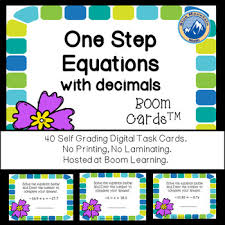 one step equations with decimals