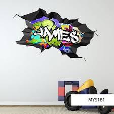 Custom Wall Mural Graffiti Wall Decal Vinyl Wall Stickers Etsy