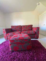 3 seater sofa and opening foot stool