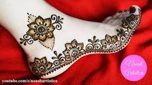 mehndi designs for legs simple
