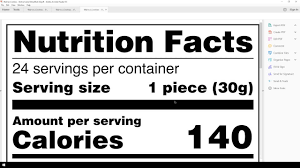 create a fda nutrition facts label