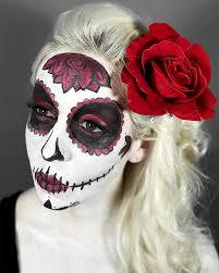 red rose sugar skull makeup