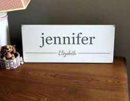 Custom Sign Personalized Sign With Child S Name First Name Middle Name Kids Room Baby Shower Gift Baby S First Birthday Baby Name Sign