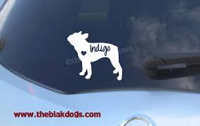 Boston Terrier Silhouette Vinyl Sticker Car Decal Personalized Blakdogs Vinyl Designs