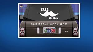 Free Mustache Rides Car Window Decal Sticker Youtube