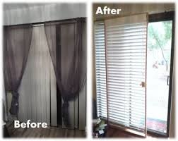 diy rolling blinds for the patio door