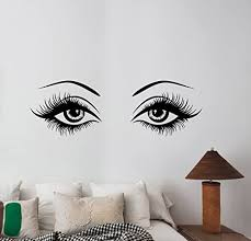 Amazon Com Beautiful Woman Eyes Wall Decal Closeup Girl Look Vinyl Sticker Eyelashes Eyebrow Art Fashion Glamour Decorations For Home Makeup Beauty Salon Studio Room Decor Wes1 Arts Crafts Sewing