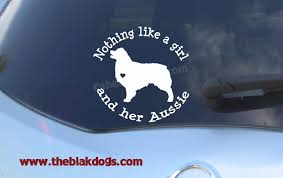 Nothing Like A Girl And Her Aussie Australian Shepherd Silhouette Vinyl Sticker Car Decal Blakdogs Vinyl Designs