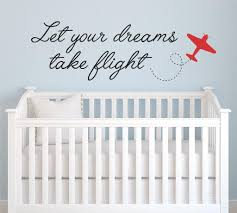 Amazon Com Dreams Take Flight Quote Wall Decal 28 Wide By 9 High Vinyl Sticker Biplane Plane Kids Baby Name Nursery Boy Room Decor Nursery Quote Boys Quotes Playroom U19 Free 12 White
