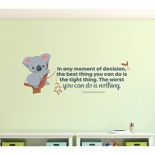 Zoomie Kids Best Thing Cute Koala Life Quote Cartoon Quotes Decors Wall Sticker Art Decal For Girls Boys Kids Room Home Decor Stickers Wall Art Vinyl 8x10 Inch Wayfair