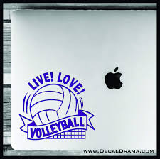 Live Love Volleyball Vinyl Car Laptop Decal Decal Drama