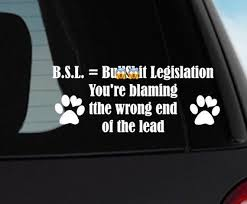 Bsl Car Decal Deed Not Breed Car Sticker Breed Specific Legislation Dog Lover Laptop Decal Surface Car Decals