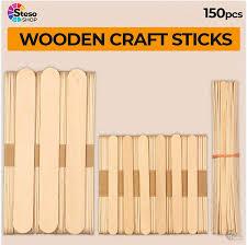 Amazon Com Stesoshop Popsicle Stick Jumbo Craft Sticks Mixed Sizes Popsicle Wood Ice Cream Wooden Popsicle Bulk Variety Assortment Multi Large Mini Recycled Durable Wax Sticks Arts Crafts Sewing