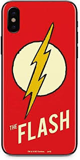 Amazon Com Skinit Decal Phone Skin Compatible With Iphone X Officially Licensed Warner Bros Flash Emblem Design