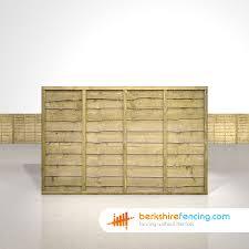 Lap Fence Panels 4ft X 6ft Natural Berkshire Fencing