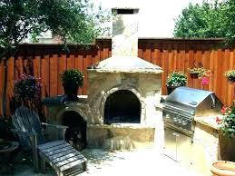 fireplace outside patio backyard ideas
