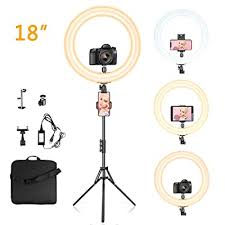 led ring light 18 with tripod stand