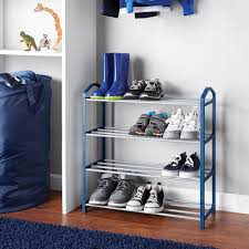 Mainstays Kids Shoe Rack Blue Walmart Com Walmart Com