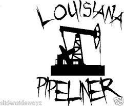Louisiana Pipeliner With Pump Jack Vinyl Decal Sticker Pipeline Ebay