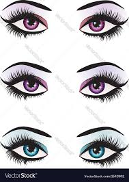 eyes makeup royalty free vector image
