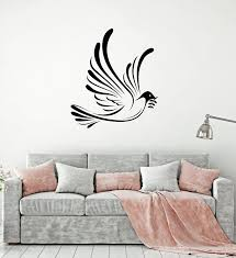 Vinyl Wall Decal Dove Flying Pigeon Bird Living Room Decor Stickers Mu Wallstickers4you