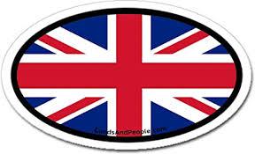 Amazon Com United Kingdom Great Britain Uk Flag Car Bumper Sticker Oval Arts Crafts Sewing