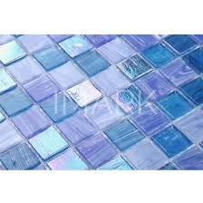 iridescent hot melt clear glass mosaic