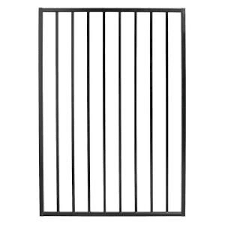 Slipfence 4 Ft X 6 Ft Wood And Aluminum Fence Gate Kit Sf2 Gk100 The Home Depot In 2020 Steel Fence Steel Fence Panels Aluminum Fence Gate
