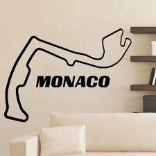 Monaco Race Track F1 Circuit Wall Sticker Home Decor Living Room Bedroom Boys Room Art Murals Wall Decals Wall Stickers Aliexpress