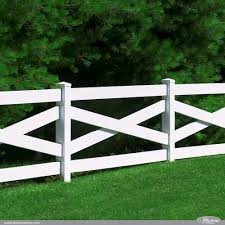 Post And Rail Crossbuck Illusions Fence