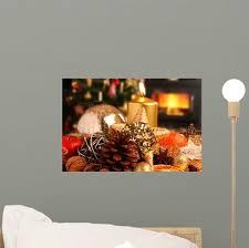 Christmas Plate Front Fireplace Wall Decal Wallmonkeys Com