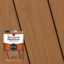 Thompson S Waterseal Signature Series Pre Tinted Autumn Brown Semi Transparent Exterior Stain And Sealer Gallon In The Exterior Stains Department At Lowes Com