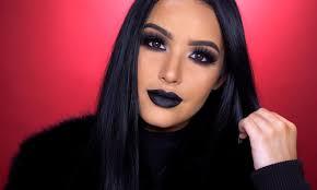 dark anti valentine s day makeup look