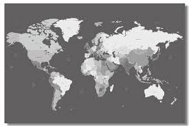 Custom Canvas Wall Decals Black And White World Map Poster World Map Wallpaper Living Room Wall Sticker Office Decoration 0628 Wall Stickers Aliexpress