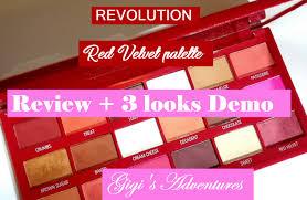 revolution red velvet palette review