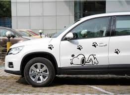 2013 Hot Sales Cartoon Snoopy Car Stickers For Car Door The Whole Body Of Car Free Shipping 2pcs 19 80 Cover Body Bonn