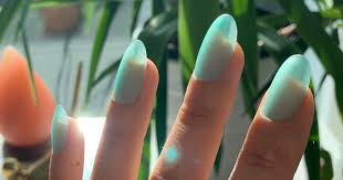 sea glass nails manicure
