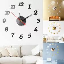 Diy 3d Wall Clock Mural Vinyl Removable Wall Stickers Home Modern Decal Crystal Mirror Vinyl Wall Art Sticker Decals Wall Stickers Aliexpress
