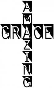 Amazing Grace Cross Car Or Truck Window Decal Sticker Or Wall Art Decalsrock