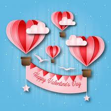 romantic hot air balloon paper art