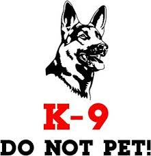 K 9 Do Not Pet Dog Window Vinyl Decal Stickers Puppy Paw K9 Ebay