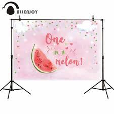 Allenjoy خلفيات للتصوير الفوتوغرافي البطيخ الوردي فتاة اللوحة
