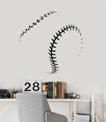 Vinyl Wall Decal Baseball Ball Fan Decor Boys Man Gift Stickers Ig4765 Homedecorwall In 2020 Baseball Wall Decal Vinyl Wall Decals Baseball Wall