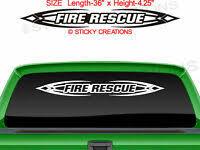 124 Fire Rescue Flame Windshield Decal Window Sticker Design Vinyl Graphic Car Ebay