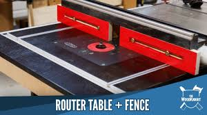 Router Table Fence In A Table Saw Youtube