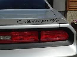 Challenger R T Rt Script Spoiler Decal Sticker Overlay Fits Dodge Challenger Ebay