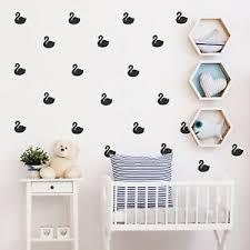 Set Of 25 Vinyl Wall Art Decal Swan Pattern 4 X 4 Each Cool Adhesive Sti Ebay