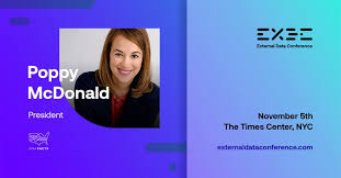 We're excited to introduce one of the External Data Conference speakers: Poppy  MacDonald is the President of USAFacts, a new data-driven portrait of the  American population, government's finances, and government's impact on